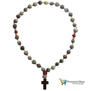 Χειροποίητο 33άρι κομποσχοίνι προσευχής με Δάκρυα της Παναγίας