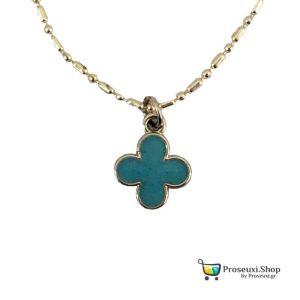 Μεταλλικός Σταυρός Λαιμού (γαλάζιο)