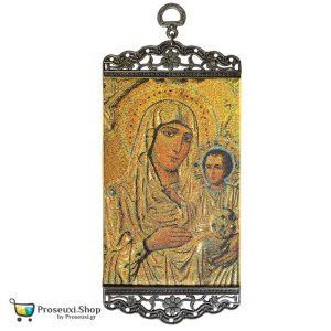 Παναγία Ιεροσολυμίτισσα χρυσοκέντητη εικόνα