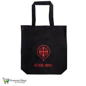Τσάντα ΑΓΙΟΝ ΟΡΟΣ με κεντημένο σύμβολο