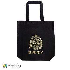 Τσάντα ΑΓΙΟΝ ΟΡΟΣ με χρυσοκέντητο δικέφαλο αετό