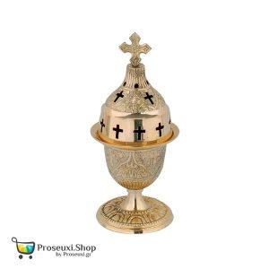 Καντήλι Επιτραπέζιο σε χρυσό χρώμα (Μπρούτζινο)