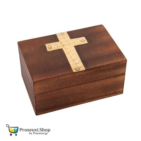 Κουτί με σταυρό ξύλινο (Λιβάνι ή Θυμίαμα)