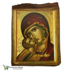 Εικόνα Παναγία Γλυκοφιλούσα (Φυσικό ξύλο)