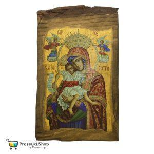 Εικόνα Παναγία Άξιον Εστί (Φυσικό ξύλο)