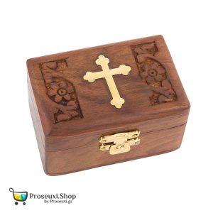 Κουτί θυμιάματος (ξύλινο με Σταυρό)