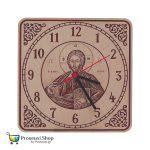 Ξύλινο ρολόι τοίχου ο Παντοκράτωρ