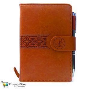 Σημειωματάριο με στυλό και Χριστόγραμμα