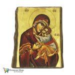 Εικόνα Παναγίας Γλυκοφιλούσας (Φυσικό ξύλο)