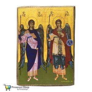 Μοναστηριακή Εικόνα Αρχάγγελοι Μιχαήλ & Γαβριήλ