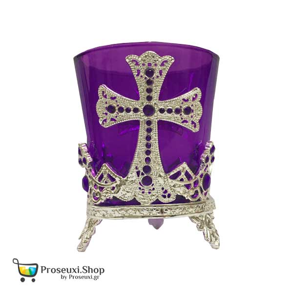 Καντήλι Επιτραπέζιο με Σταυρό