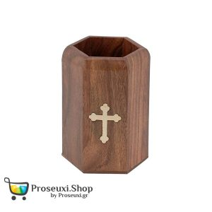 Μολυβοθήκη ξύλινη με σταυρό